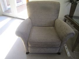 TAUPE CUSTOM FABRIC CHAIR