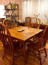 Solid Wood Square Dining Table With 4 Chairs