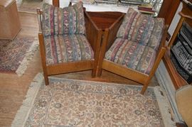 Pair Of Stickley Cube Chairs