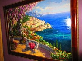 """""""Amalfi Patio Canv Deluxe"""" by S. Sam Park"""