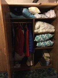 Inside of storage cabinet.