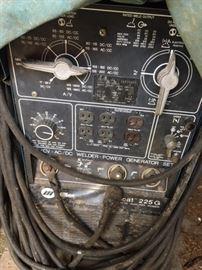 Front of Miller Welder Generator