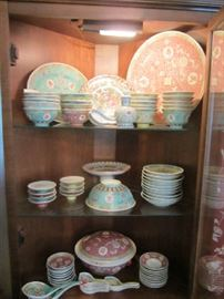 Large collection of Oriental Dishes