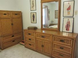 Dixie Bedroom Dresser and Armoire