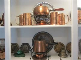 Hammered Copper - Brass and Copper Items - more