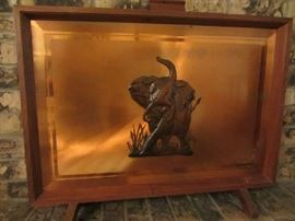 Amazing Copper Elephant Fireplace Screen!!