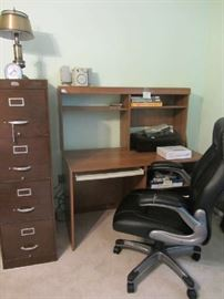 Desk, File Cabinet and very nice office chair