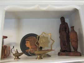 Brass and Carved Items