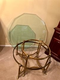 Glass coffe table and matching end table