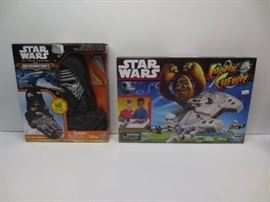 Lot of 2 star wars toy sets, micromachines gold se ...