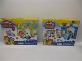 Lot of 2 play doh toy sets