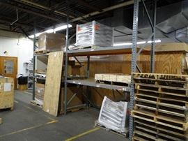2 Section Of Pallet Racking With (2) Shelves Per O ...