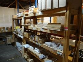 Lot Of Various Sized Wooden Shelving
