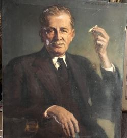 Man with cigarette-oil