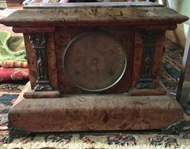 Beautiful Burlwood clock...oneof many clocks