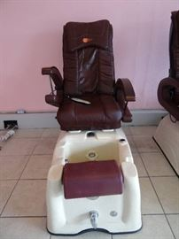 Zyon Massage Cushion Back PedicureSalon Chair, Mo ...