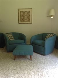 Cute retro swivel chairs