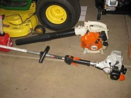Gas powered trimmer  and blower