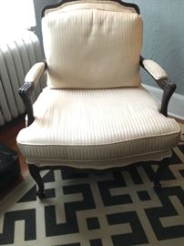 Vintage upholstered white chair