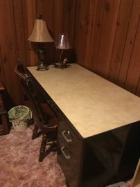 Large metal desk