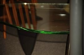RARE EARLY GREEN GLASS c 1948-52 ISAMU NOGUCHI COFFEE TABLE FOR HERMAN MILLER