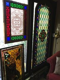 Antique Stained Glass (large one to the right the family has withdrawn)