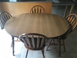 Maple Kitchen Table W/4 Chairs
