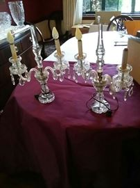 Crystal Electric Candelabras