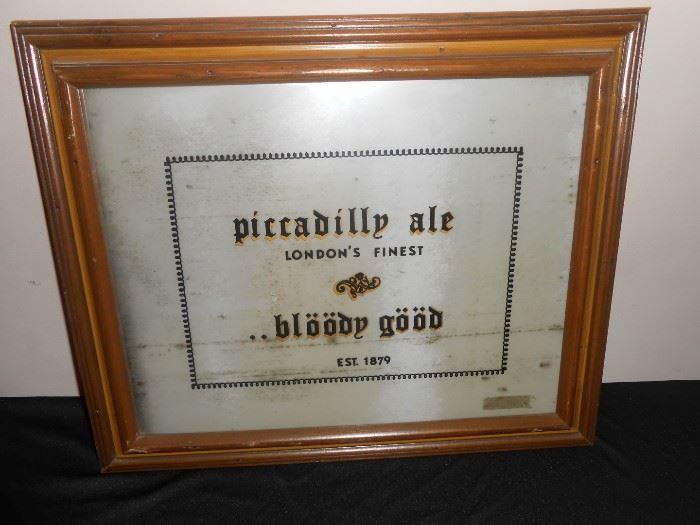 vintage beer mirror