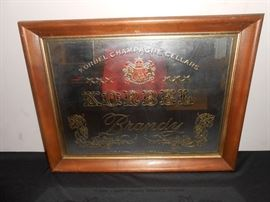vintage brandy mirror