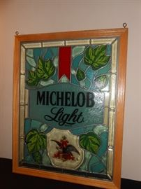 leaded stain glass Michelob Light