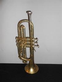 vintage brass Conn trumpet