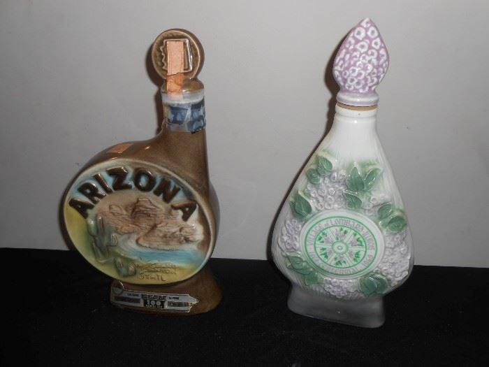 1968 & 1969 jim beam decanters
