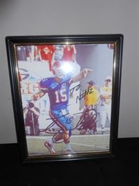 tim tebow signed picture