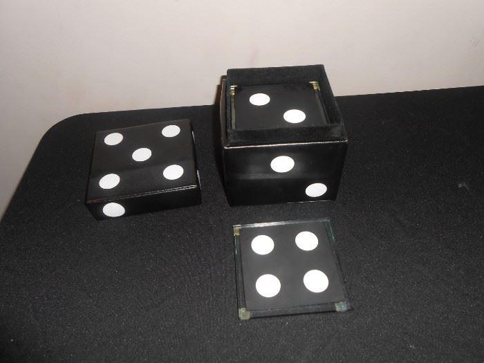 dice coasters
