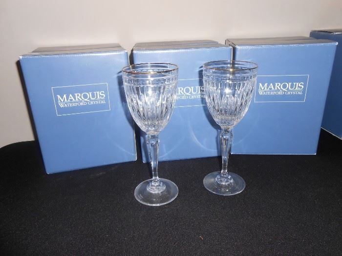 waterford hanover gold wine NIB