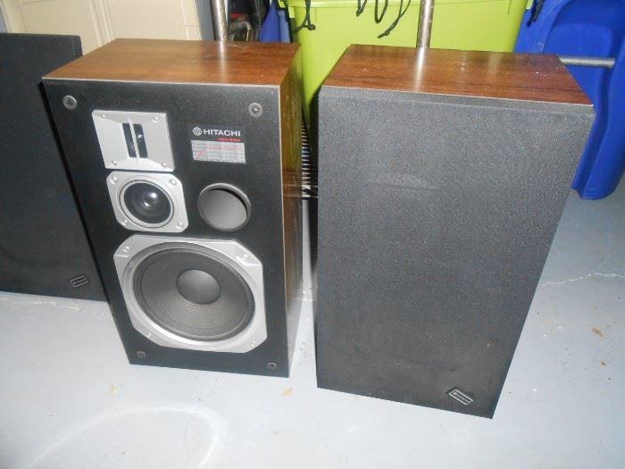 vintage Hitachi speakers
