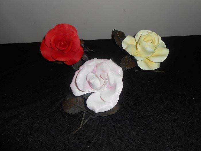 Boehm porcelain flowers