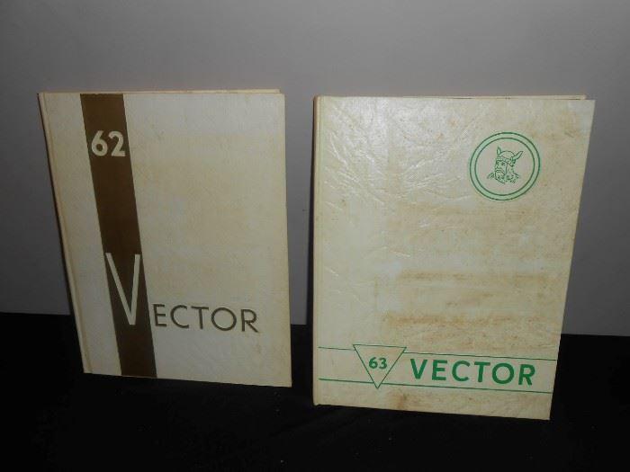 vintage 60's yearbooks