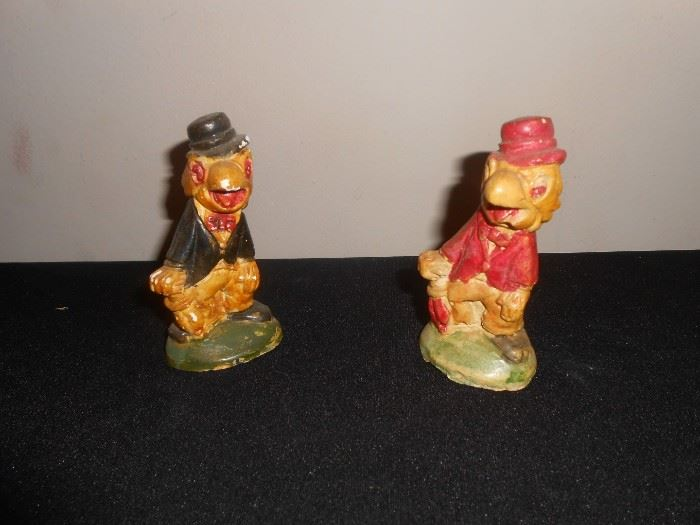 RARE 1940's Walt Disney wood figures