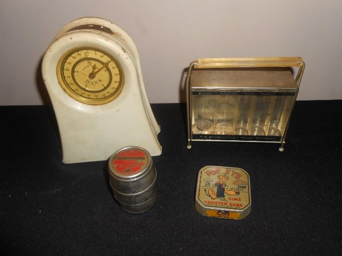 vintage coin banks - popeye too