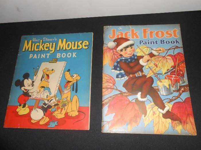 1940's Walt Disney Mickey paint book