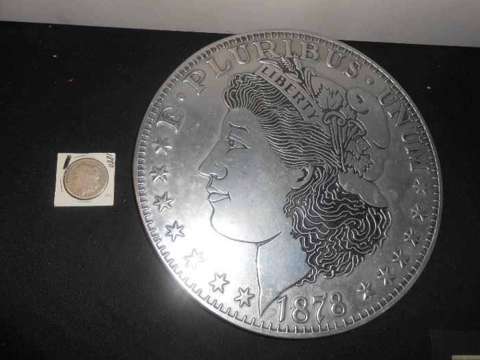 morgan dollar plaque