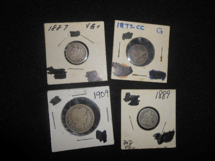 carson city coin and 1800s coins
