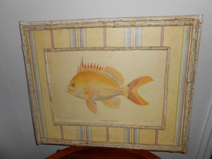 custom framed julius bien lith
