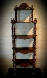 vintage mahogany what-not shelf