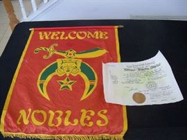Shriners flag - Welcome Nobles -see next pic