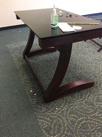 Wonderful glass top desk or writing table
