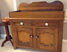 Early 1820-40's dry sink.  Has been refinished
