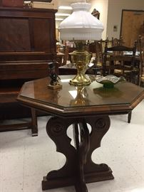 Jacobean center hall table, foyer or lamp table